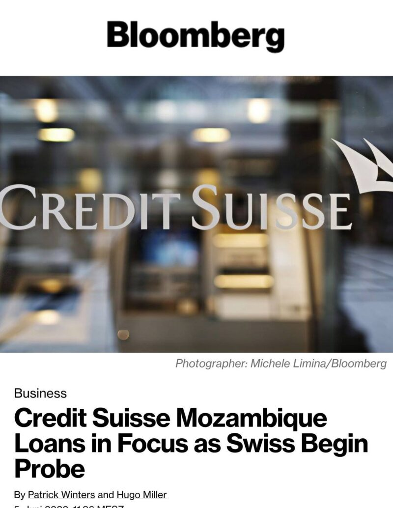 Bundesanwaltschaft Credit Suisse Moçambique